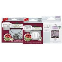 Yankee Candle Charming Scents Red Bundle - Black Cherry &Amp; Linear Refillable Locket, Black Cherry &Amp; Love Charm