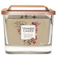 Product photograph showing Yankee Candle Elevation Collection - Velvet Woods Medium Jar Candle