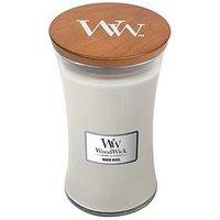 Product photograph showing Woodwick Large Hourglass Candle Ndash Warm Wool