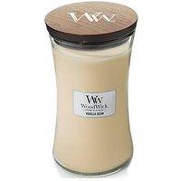 Product photograph showing Woodwick Large Hourglass Candle Ndash Vanilla Bean