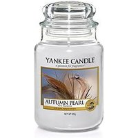 Product photograph showing Yankee Candle Large Jar Candle Ndash Autumn Pearl