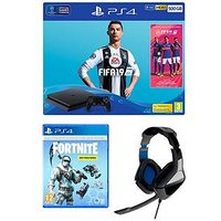Playstation 4 500Gb + Fortnite Deep Freeze Bundle + Hcp4 Stereo Gaming Headset + Extra Dualshock Controller + 365 Day Psn Subscr
