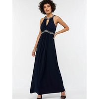 Monsoon Isabeli Embellished Jersey Maxi Dress - Black