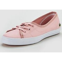 Lacoste Ziane Chunky 119 2 Cfa Plimsoll - Pink/White , Pink/White, Size 6, Women