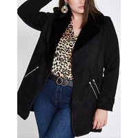 RI Plus Faux Fur Lined Jacket - Black, Black, Size 26, Women