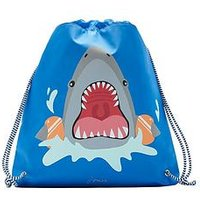 Joules Boys Active Stripe Shark Drawstring Bag, One Colour
