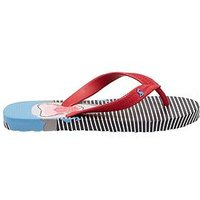 Joules Boys Stripe Shark Flip Flops - Blue, Blue, Size 10 Younger