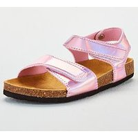 Joules Girls Tippytoes Metallic Sandals - Pink, Pink, Size 12 Younger