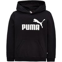 Puma Older Boys Logo Hoody, Black, Size 9-10 Years