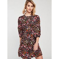 Whistles Floral Meadow Cinched Print Dress - Multi