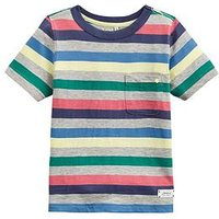 Joules Boys Caspian Stripe Short Sleeve T-Shirt - Multi, Multi, Size 11-12 Years