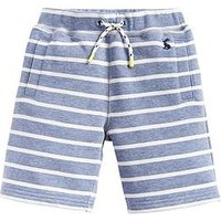 Joules Boys Seb Stripe Shorts - Blue, Blue, Size 7-8 Years