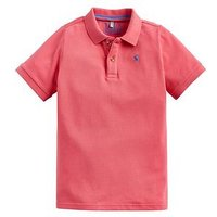 Joules Boys Woody Short Sleeve Polo Shirt - Pink, Pink, Size 4 Years