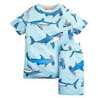 Joules Boys Arnie Short Pyjama Set - Aqua, Aqua, Size Age: 9-10 Years
