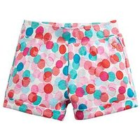 Joules Girls Kittiwake Spot Jersey Shorts - Multi, Multi, Size Age: 3 Years, Women