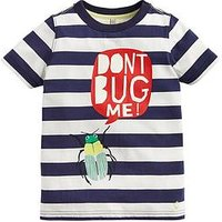 Joules Toddler Boys Ray Bug Me Short Sleeve T Shirt, Navy, Size 3 Years