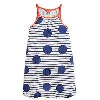 Joules Girls Tamzin Spot & Stripe Swing Dress - Blue, Blue, Size 11-12 Years, Women