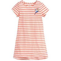 Joules Girls Riviera Stripe Short Sleeve Dress, Pink, Size 4 Years, Women