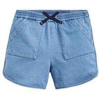 Joules Girls Becca Denim Jersey Short, Denim, Size Age: 11-12 Years, Women