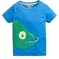 Joules Toddler Boys Archie Chamelon Short Sleeve T-shirt, Blue, Size 1 Year