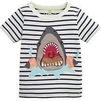 Joules Toddler Boys Archie Stripe Shark T-Shirt - Blue, Blue, Size 3 Years