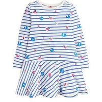Joules Toddler Girls Josie Long Sleeve Stripe Dress, Cream, Size 2 Years, Women