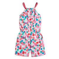 Joules Toddler Girls Delphi Spot Printed Playsuit - Multi, Multi, Size 6 Years, Women