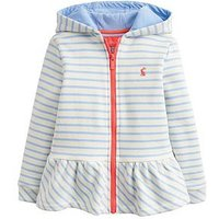 Joules Toddler Girls Brianna Novelty Ear Zip Through, Sky Blue, Size Age: 3 Years, Women