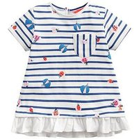 Joules Toddler Girls Lulabelle Stripe T-Shirt - Cream, Cream, Size Age: 2 Years, Women