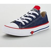 Converse Chuck Taylor All Star Junior Ox, Navy/White, Size 13