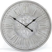 Product photograph showing Cities Metal Wall Clock 60 Cm