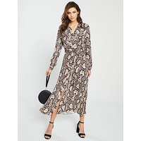 Whistles Elfrida Snake Print Shirt Dress