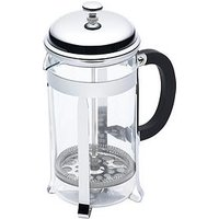 Product photograph showing Kitchencraft Stainless Steel 8-cup 1-litre Cafeti Egrave Re