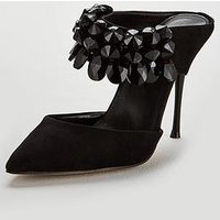 Carvela Gallileo Mule Heeled Shoe, Black, Size 4, Women