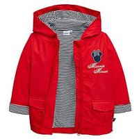 Minnie Mouse Girls Showerproof Jacket - Red, Red, Size Age: 5-6 Years, Women