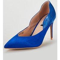Lost Ink Wide Fit Jennifer Animal Mid Heel Court Shoes -