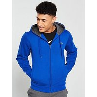 Lacoste Sport Zip Through Hoody, Blue, Size 4, Men
