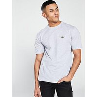 Lacoste Crew Neck T-shirt - Grey, Silver Grey, Size 4, Men