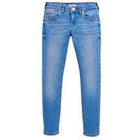 Tommy Hilfiger Girls Sophie Skinny Jeans - Bright Blue, Bright Blue, Size Age: 7 Years, Women