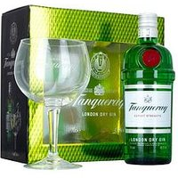 Tanqueray London Dry Gin 70cl & Copa Glass Gift Pack, One Colour, Women