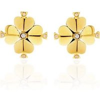 Kate Spade New York Legacy Logo Spade Flower Stud Earrings - Gold