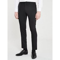 V by Very Skinny Stretch Trouser - Black, Black, Size 28, Length Regular, Men