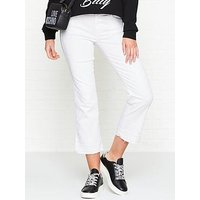 7 For All Mankind Skinny Crop Coloured Illusion Jean- White