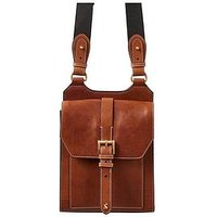 Joules Tan Leather Crossbody Bag, Tan, Women