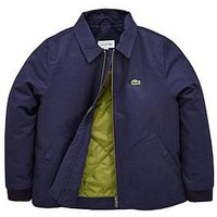 Lacoste Boys Zip Through Coach Jacket, Navy, Size Age: 8 Years