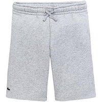 Lacoste Sports Boys Sweat Shorts - Grey, Grey, Size 4 Years