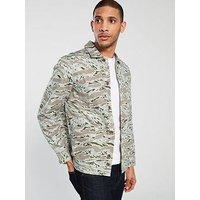 LACOSTE LIVE Long Sleeve Printed Shirt, Multi, Size Xl, Men