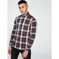 Lacoste Sportswear L/s Check Shirt, Multi, Size 44, Men