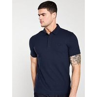 Lacoste Sportswear Ribbed Collar Polo Shirt - Navy, Navy, Size 4, Men