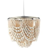 Product photograph showing Miller Wooden Bead Easy Fit Ceiling Light Shade